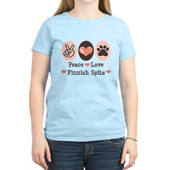 Peace Love Finnish Spitz Women's Light T-Shirt