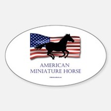 American Miniature Horse Oval Decal