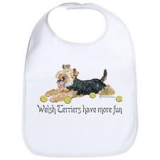 Welsh Terriers Fun Dogs Bib
