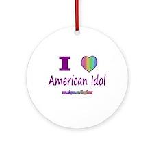 LOVE AMERICAN IDOL Ornament (Round)