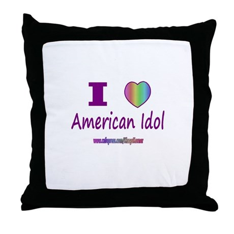 LOVE AMERICAN IDOL Throw Pillow