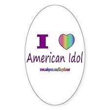 LOVE AMERICAN IDOL Oval Decal