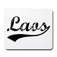 Vintage Laos (Black) Mousepad