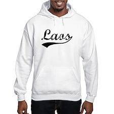 Vintage Laos (Black) Hoodie Sweatshirt