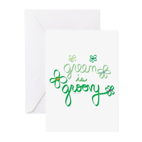 Green is Groovy Greeting Cards (Pk of 10)