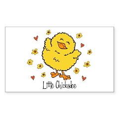 Little Chickadee Rectangle Decal