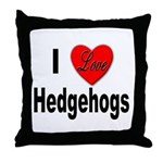 I Love Hedgehogs Throw Pillow