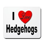 I Love Hedgehogs Mousepad