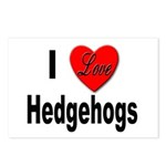 I Love Hedgehogs Postcards (Package of 8)