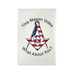 Masons that vote Rectangle Magnet