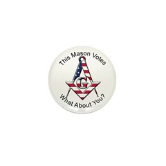 Masons that vote Mini Button (10 pack)