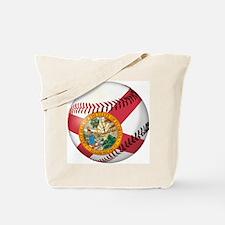 Baseball Florida Flag Tote Bag