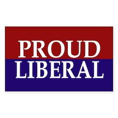 Proud Liberal (bumper sticker)