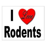 I Love Rodents Small Poster