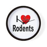 I Love Rodents Wall Clock