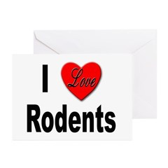 I Love Rodents Greeting Cards (Pk of 10)