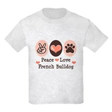 Peace Love French Bulldog T-Shirt