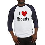 I Love Rodents Baseball Jersey