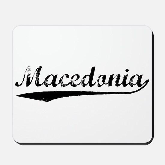 Vintage Macedonia (Black) Mousepad