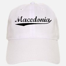 Vintage Macedonia (Black) Baseball Baseball Cap