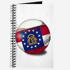 Baseball Georgia Flag Journal