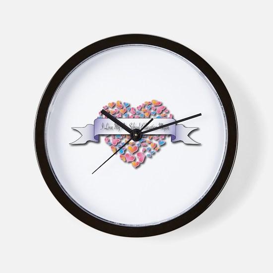 Love My Pre-School Education Major Wall Clock