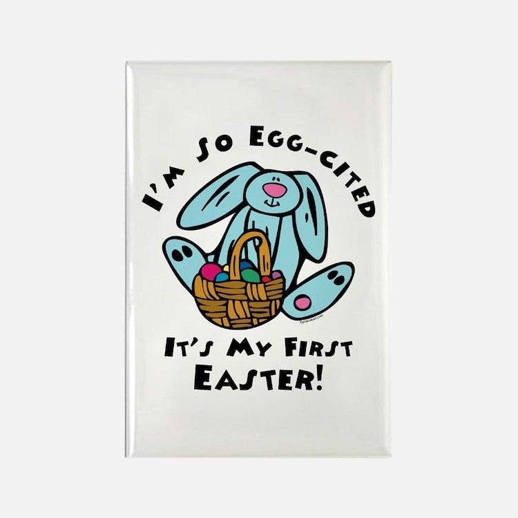 Eggcited 1st Easter Rectangle Magnet