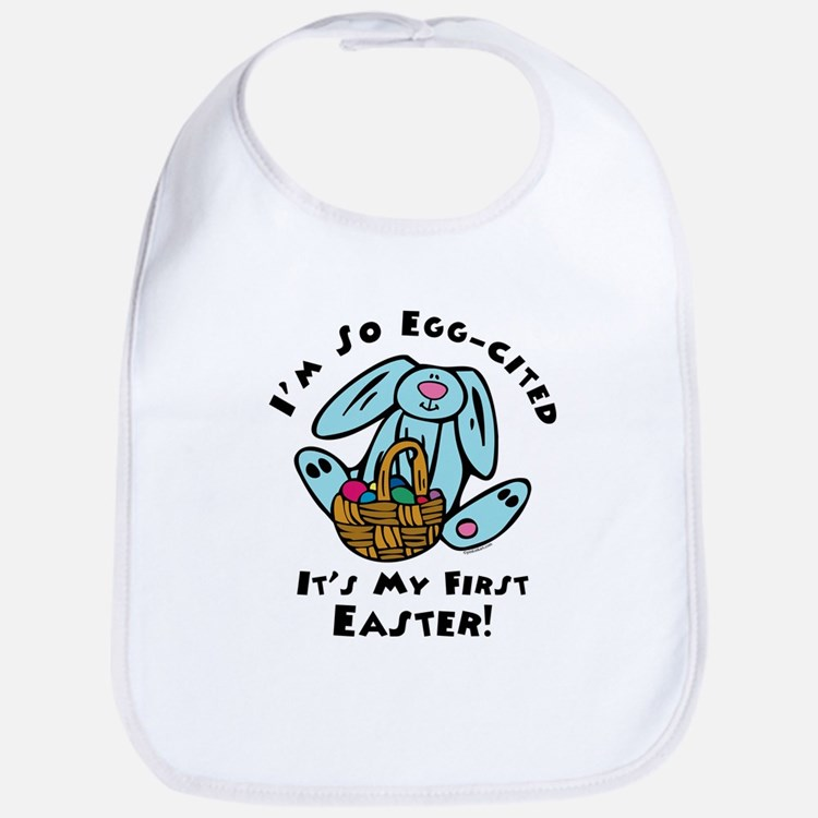 Eggcited 1st Easter Bib