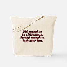 Young Enough Grammie Tote Bag