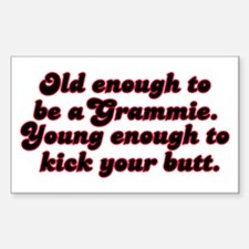 Young Enough Grammie Rectangle Decal