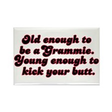 Young Enough Grammie Rectangle Magnet