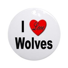 I Love Wolves Keepsake (Round)