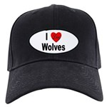 I Love Wolves Black Cap