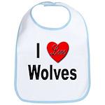I Love Wolves Bib