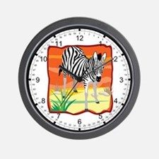 African Zebra Wall Clock