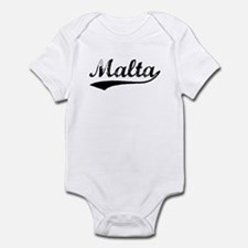 Vintage Malta (Black) Infant Bodysuit