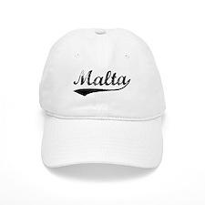Vintage Malta (Black) Baseball Baseball Cap