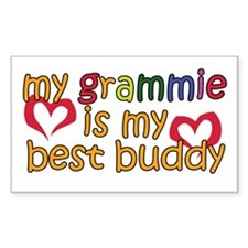 Grammie is My Best Buddy Rectangle Bumper Stickers