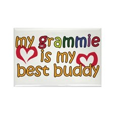 Grammie is My Best Buddy Rectangle Magnet