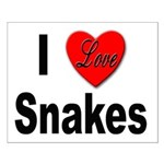 I Love Snakes Small Poster