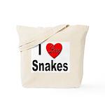 I Love Snakes Tote Bag