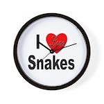 I Love Snakes Wall Clock