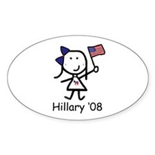 Democrat - Hillary Oval Decal