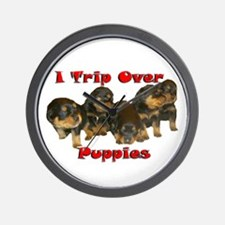 I Trip Over Puppies Wall Clock