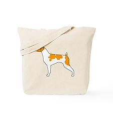 Orange Brittany Tote Bag