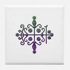 Cute Voodoo Tile Coaster