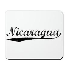 Vintage Nicaragua (Black) Mousepad