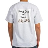 Dad of twins Mens Light T-shirts