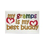 Gramps is My Best Buddy Rectangle Magnet (100 pack