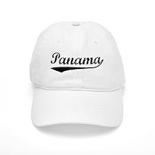 Vintage Panama (Black) Baseball Cap